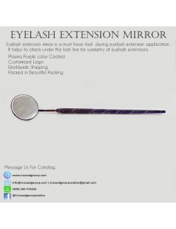 Eyelash mirror in purple plasma color coated
