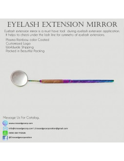 Eyelash mirror in rainbow plasma color coated