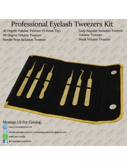 professional Classic and volume tweezers kit (all in 1)