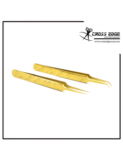 needle nose isolation and 45 degree volume tweezers set