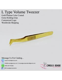 L type volume tweezer with extra holding grip