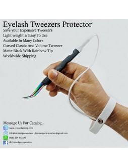curved volume tweezer with protector