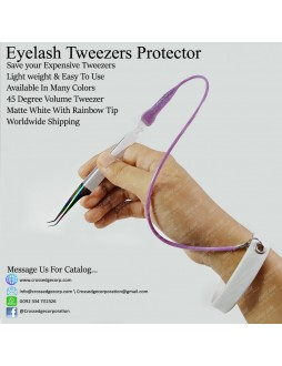45 degree volume tweezer with protector