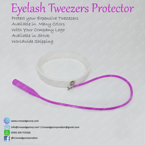 Tweezers protector (white and pink)