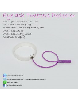 Tweezers protector (white and glitter purple)