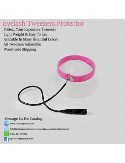 tweezers protector(pink with black)