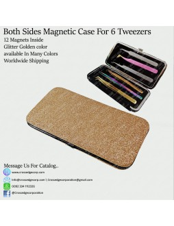 Six tweezers magnetic frame (Glitter gold)