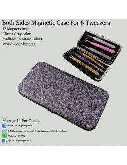 Six tweezers magnetic frame (Glitter gray)