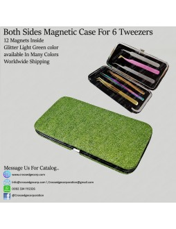 Six tweezers magnetic frame (Glitter Light Green)