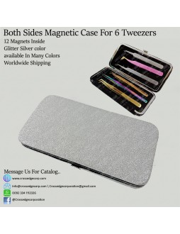 Six tweezers magnetic frame (Glitter silver)