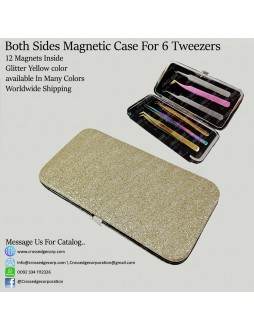 Six tweezers magnetic frame (Glitter Yellow )