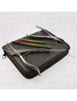 Hair Extensions Tools Kit In Rainbow Color