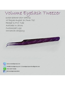 45 degree angled volume tweezer