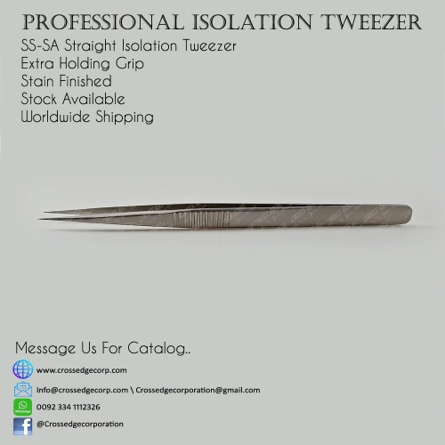 SA-SA isolation tweezer with extra holding grip