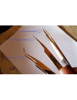 rose gold tweezers set